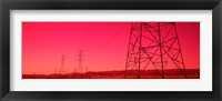 Framed Power Lines In The Valley, Central Valley, California, USA