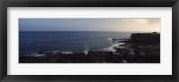 Framed Rock formations at the coast, Punta Suarez, Espanola Island, Galapagos Islands, Ecuador