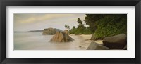 Framed Rocks On The Beach, La Digue Island, Seychelles