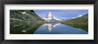 Framed Lake, Mountains, Matterhorn, Zermatt, Switzerland