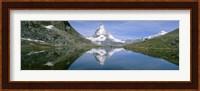 Framed Lake, Mountains, Matterhorn, Zermatt, Switzerland