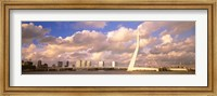Framed Netherlands, Holland, Rotterdam, Erasmus Bridge