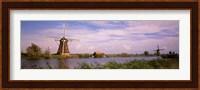 Framed Windmills at Dusk