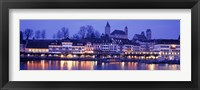 Framed Evening, Lake Zurich, Rapperswil, Switzerland