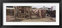 Framed Textile products in a market, Ecuador