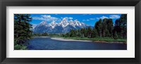 Framed Snake River & Grand Teton WY USA
