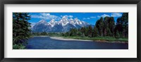 Framed Snake River & Grand Teton WY USA