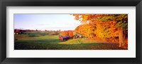 Framed Fall Farm VT USA