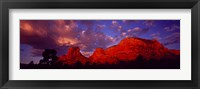 Framed Rocks at Sunset Sedona AZ USA