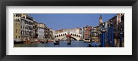 Framed Bridge across a canal, Rialto Bridge, Grand Canal, Venice, Veneto, Italy