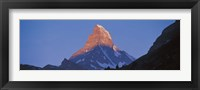 Framed Mt Matterhorn Zermatt Switzerland