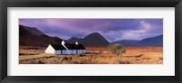 Framed Black Rock Cottage White Corries Glencoe Scotland