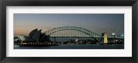 Framed Opera House & Harbor Bridge Sydney Australia