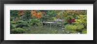 Framed Plank Bridge, The Japanese Garden, Seattle, Washington State, USA