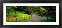 Framed Japanese Garden, Seattle, Washington State