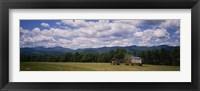 Framed Tractor on a field, Waterbury, Vermont, USA