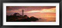 Framed Portland Head Lighthouse, Cape Elizabeth, Maine, USA