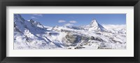 Framed Snow Covered Slopes, Matterhorn Switzerland