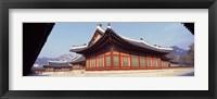 Framed Courtyard of a palace, Kyongbok Palace, Seoul, South Korea, Korea