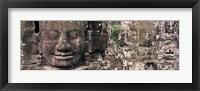 Framed Stone Faces Bayon Angkor Siem Reap Cambodia