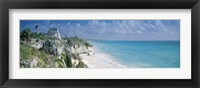 Framed El Castillo, Quintana Roo Caribbean Sea, Tulum, Mexico