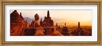 Framed Borobudur Buddhist Temple Java Indonesia