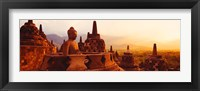 Framed Borobudur Buddhist Temple Java Indonesia