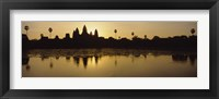 Framed Silhouette Of A Temple At Sunrise, Angkor Wat, Cambodia