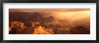 Framed Sunrise View From Hopi Point Grand Canyon AZ
