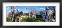 Framed Korean Veterans Memorial Washington DC USA