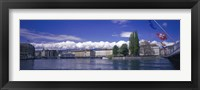 Framed Rhone River Geneva Switzerland