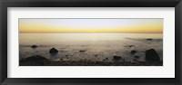 Framed Rocks on the beach, Block Island, Rhode Island, USA