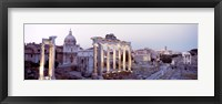 Framed Roman Forum at dusk, Rome, Italy