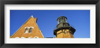 Framed Low angle view of a lighthouse, Block Island, Rhode Island, USA