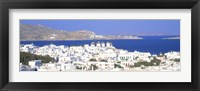 Framed Aerial View of Mykonos, Greece