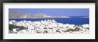 Framed Aerial View of Mykonos, Greece