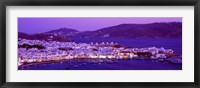 Framed Mykonos at Dusk, Greece