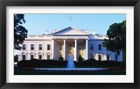 Framed White House Washington DC
