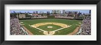 Framed Cubs playing in Wrigely Field, USA, Illinois, Chicago
