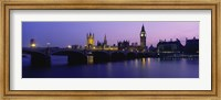 Framed Big Ben, Houses of Parliament, London, England