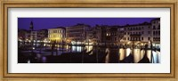 Framed Grand Canal at Night, Venice Italy