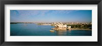 Framed Aerial view of Sydney Opera House