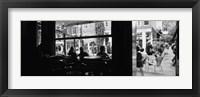 Framed Tourists In A Cafe, Amsterdam, Netherlands