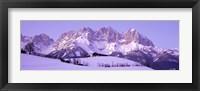 Framed Wilder Kaiser Austrian Alps