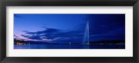 Framed Geneva Switzerland (horizontal)