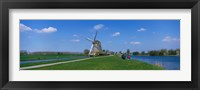 Framed Windmill and Canals near Leiden The Netherlands
