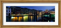 Framed Grand Canal and Rialto Bridge Venice Italy