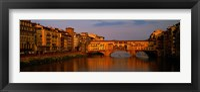 Framed Ponte Vecchio Arno River Florence Italy