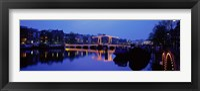 Framed Bridge at night, Amsterdam Netherlands