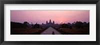 Framed Angkor Wat at dusk, Cambodia